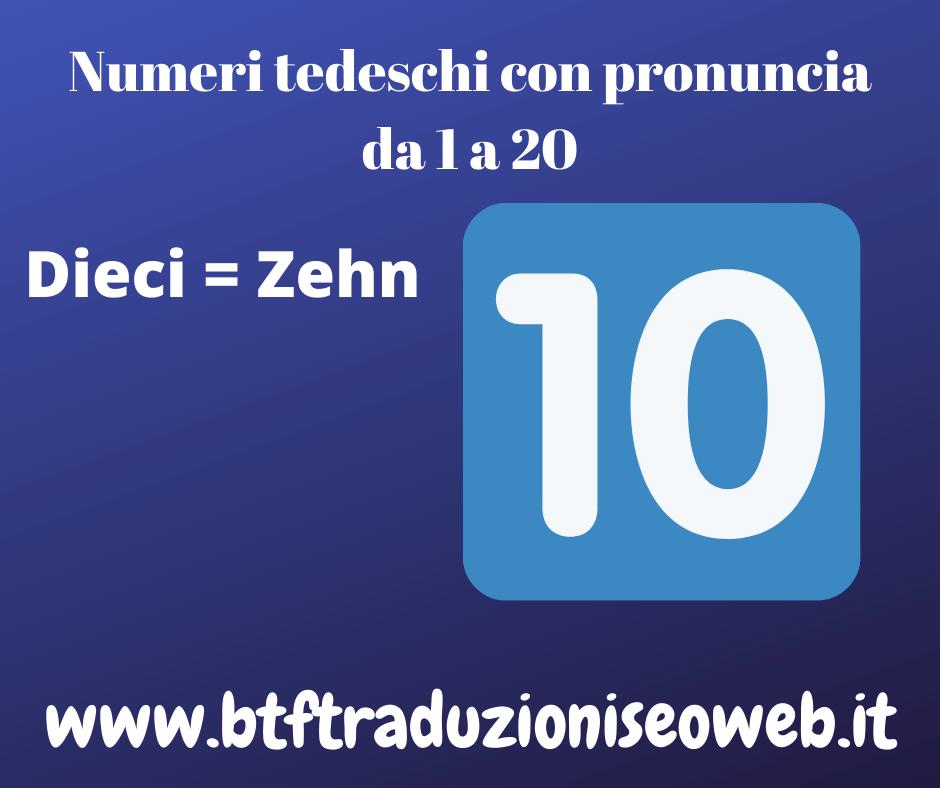 dieci zehn